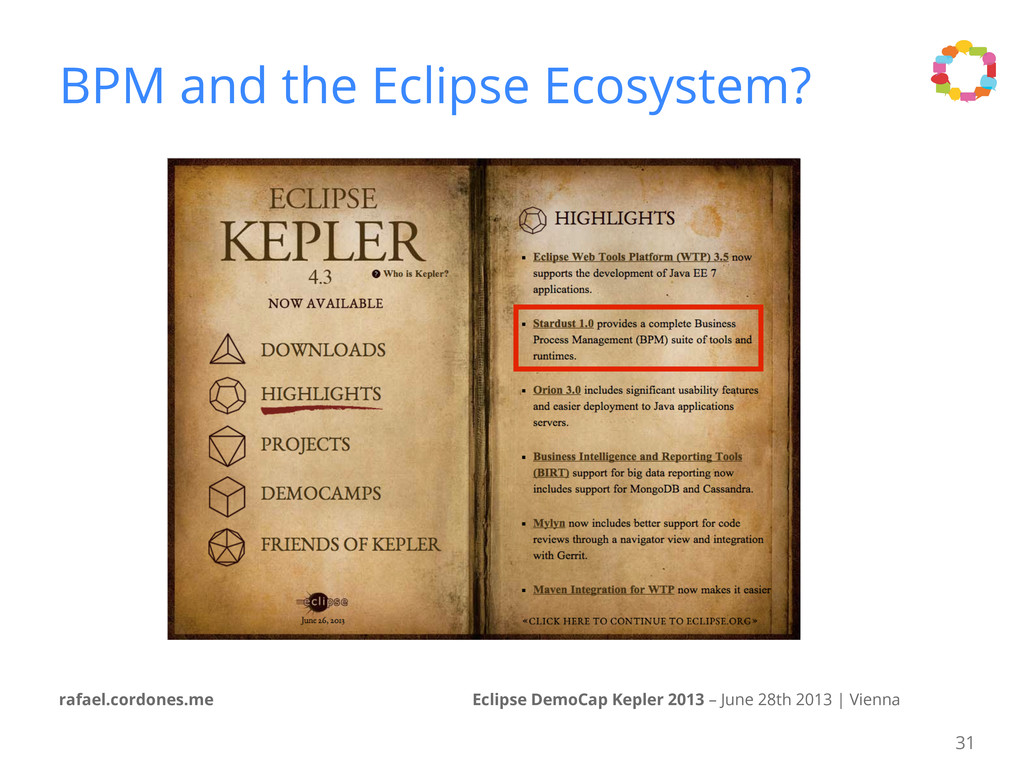 Eclipse DemoCap Kepler 2013 – June 28th 2013 | ...