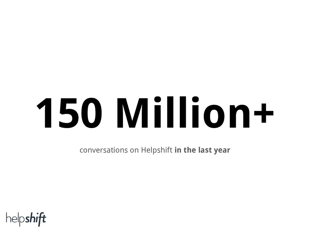 150 Million+ conversations on Helpshift in the ...
