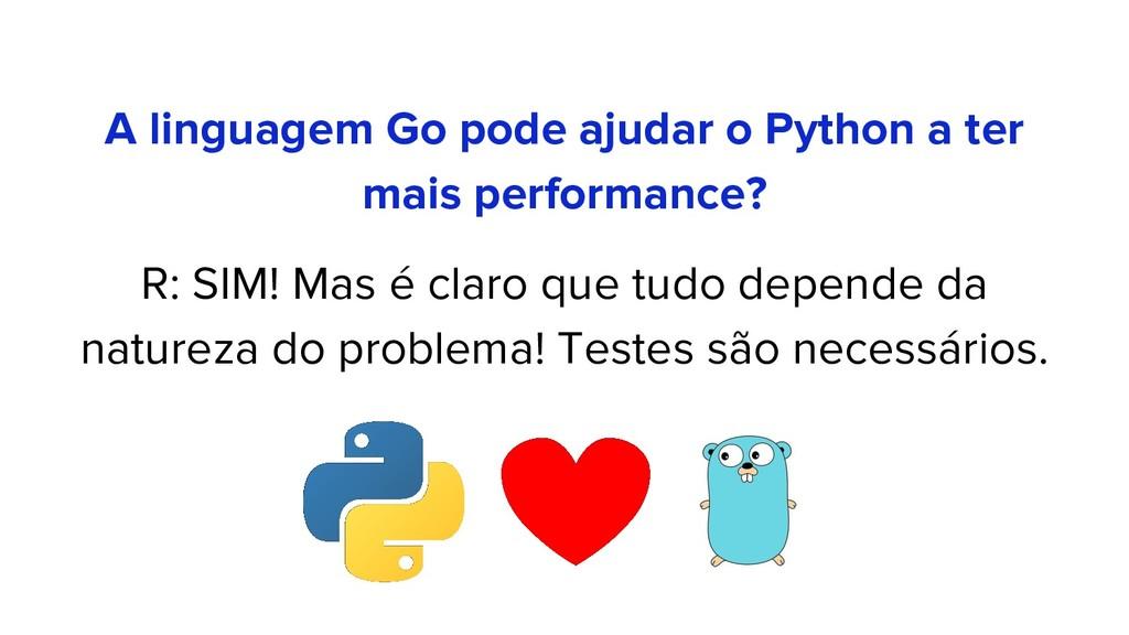 A linguagem Go pode ajudar o Python a ter mais ...
