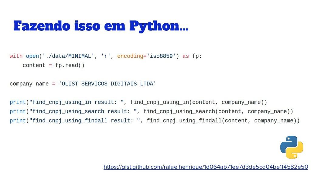 Fazendo isso em Python... https://gist.github.c...