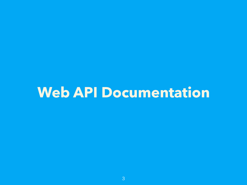 Web API Documentation