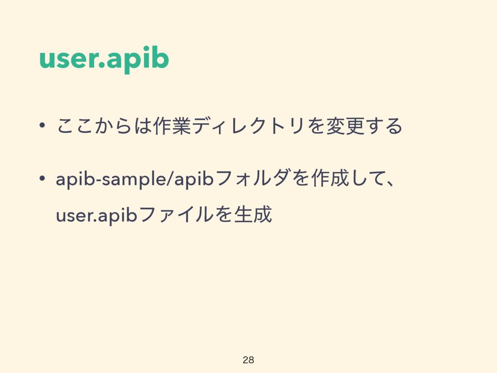 user.apib • ͔͜͜Β࡞ۀσΟϨΫτϦΛมߋ͢Δ • apib-sample/ap...