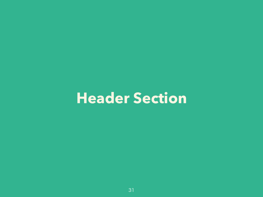 Header Section