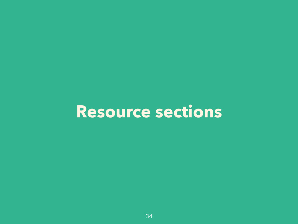 Resource sections