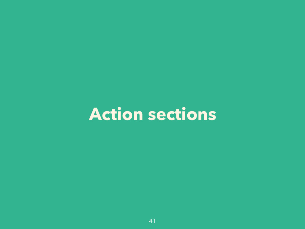 Action sections