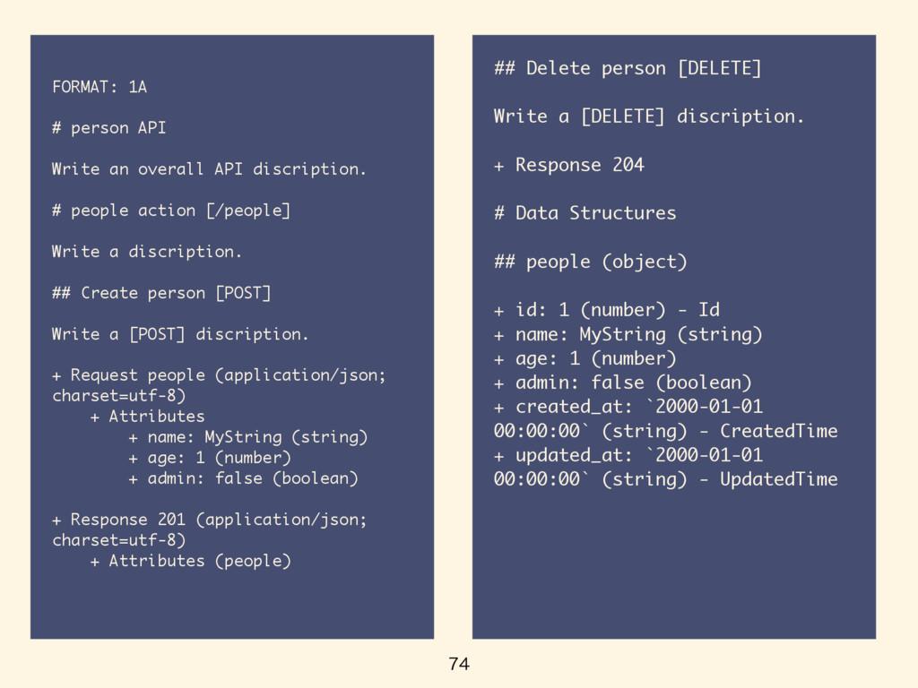 FORMAT: 1A # person API Write an overall API...