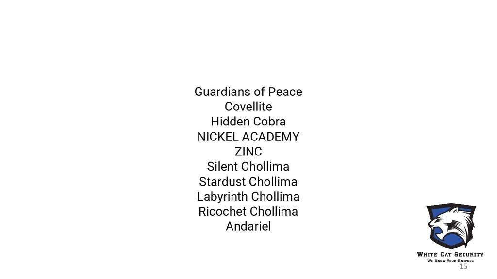 Guardians of Peace Covellite Hidden Cobra NICKE...