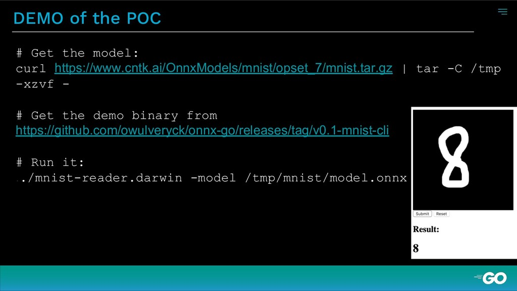DEMO of the POC # Get the model: curl https://w...