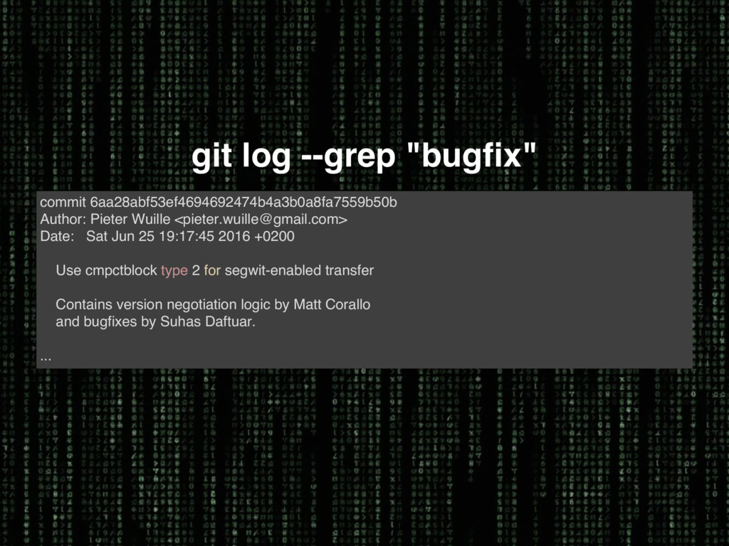 "git log --grep ""bugfix"" commit 6aa28abf53ef4694..."