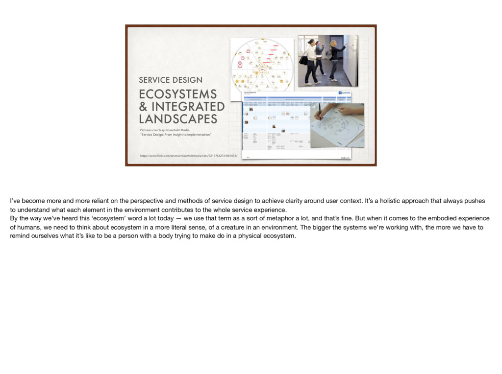 ECOSYSTEMS & INTEGRATED LANDSCAPES SERVICE DESI...