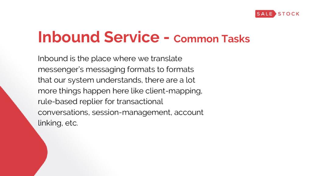 Inbound Service - Common Tasks Inbound is the p...