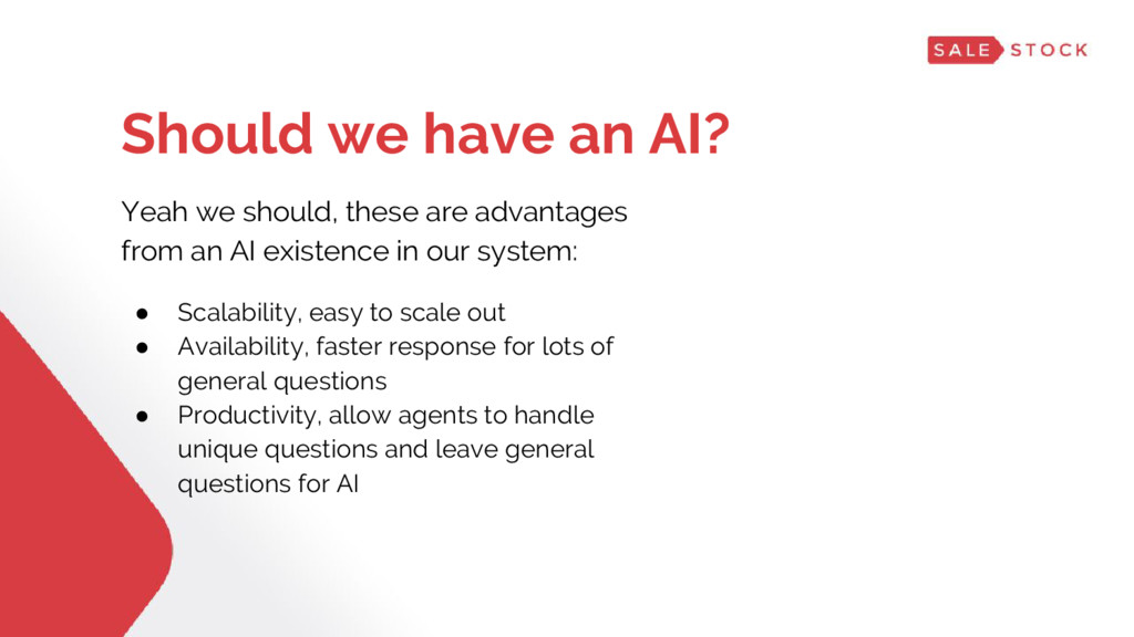 Yeah we should, these are advantages from an AI...