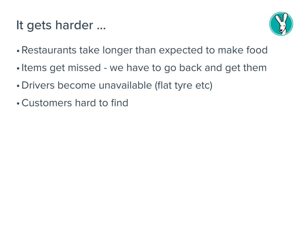 •Restaurants take longer than expected to make ...