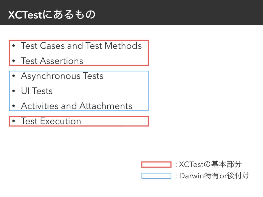 XCTestʹ͋Δͷ • Test Cases and Test Methods • Tes...