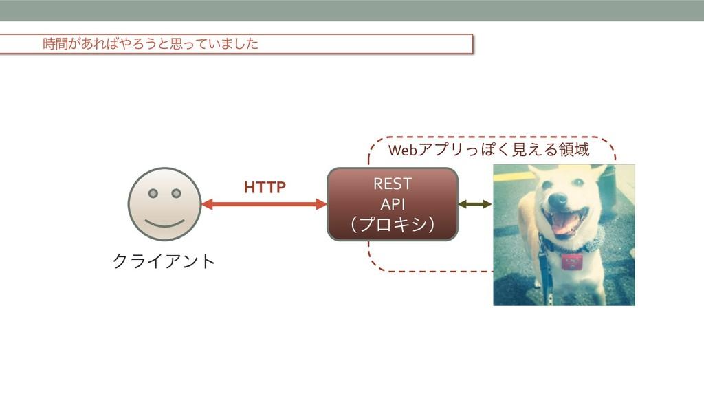 ͕ؒ͋ΕΖ͏ͱࢥ͍ͬͯ·ͨ͠ REST API ʢϓϩΩγʣ WebΞϓϦͬΆ͘ݟ͑Δྖ...