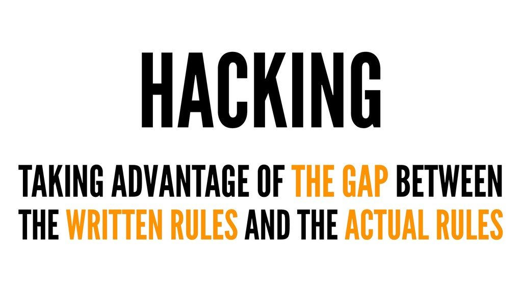 HACKING TAKING ADVANTAGE OF THE GAP BETWEEN THE...