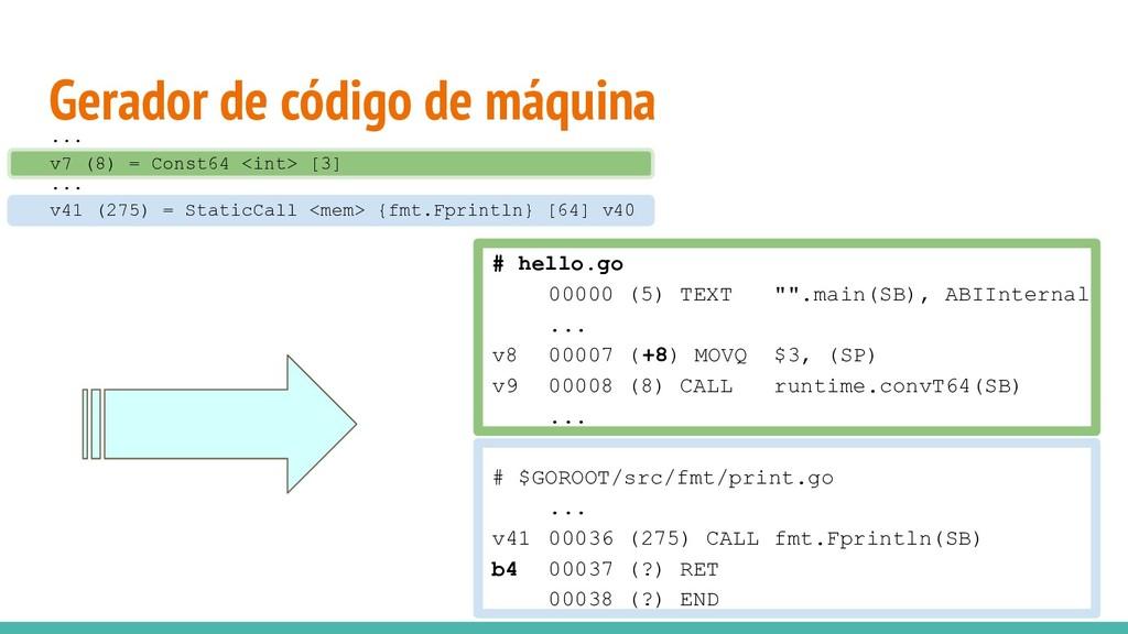 Gerador de código de máquina v7 (8) = Const64 <...