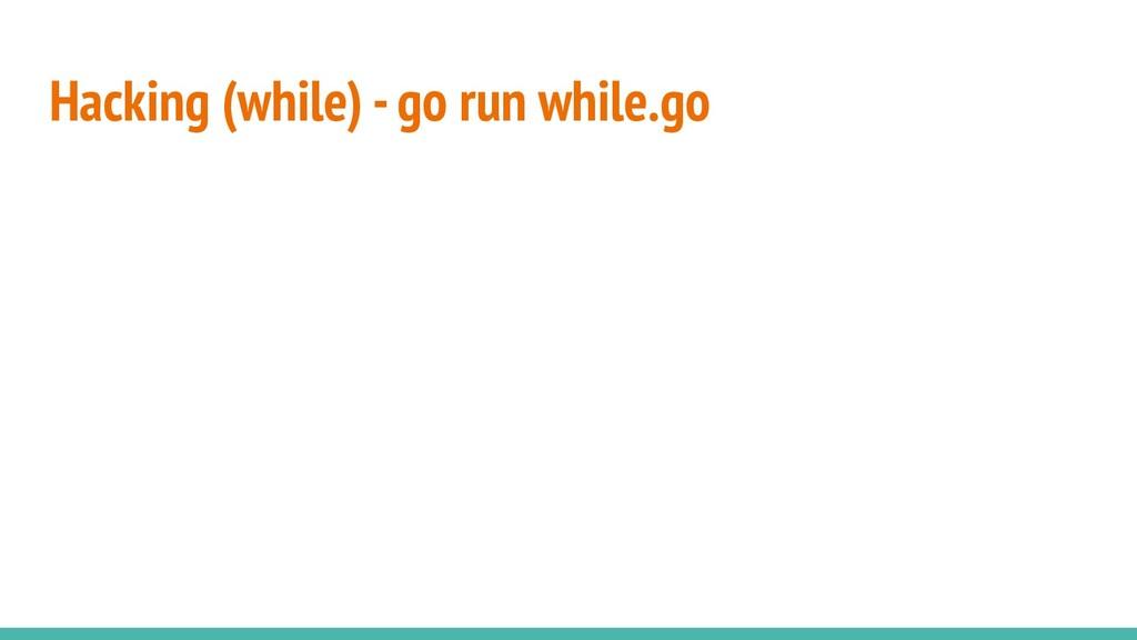 Hacking (while) - go run while.go
