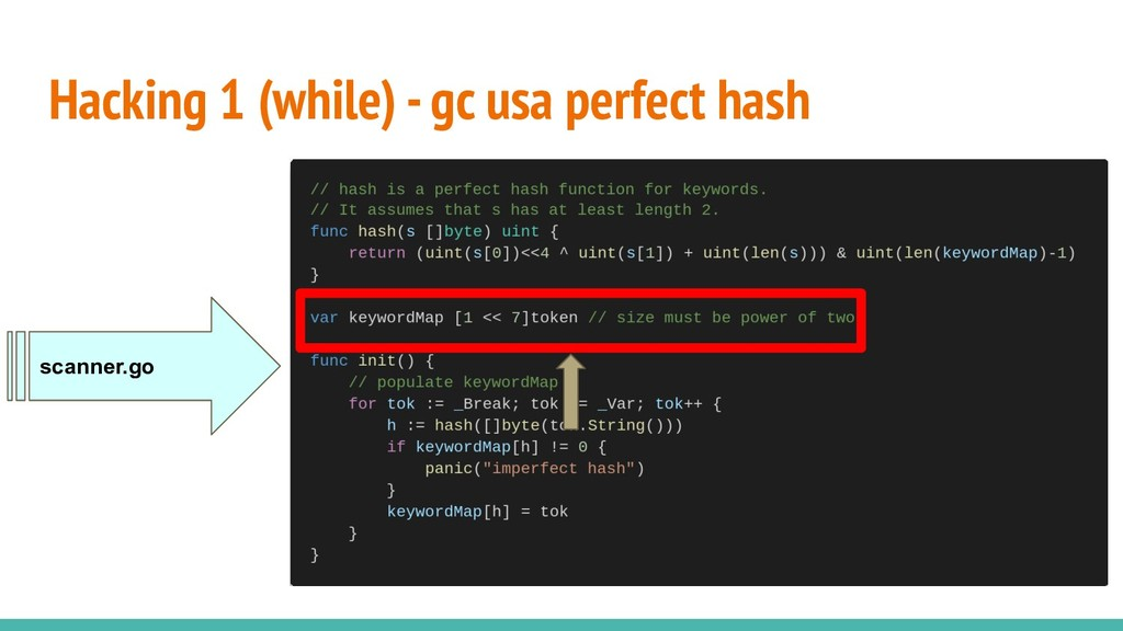 Hacking 1 (while) - gc usa perfect hash scanner...