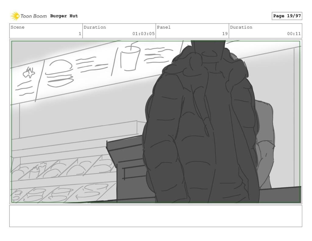 Scene 1 Duration 01:03:05 Panel 19 Duration 00:...