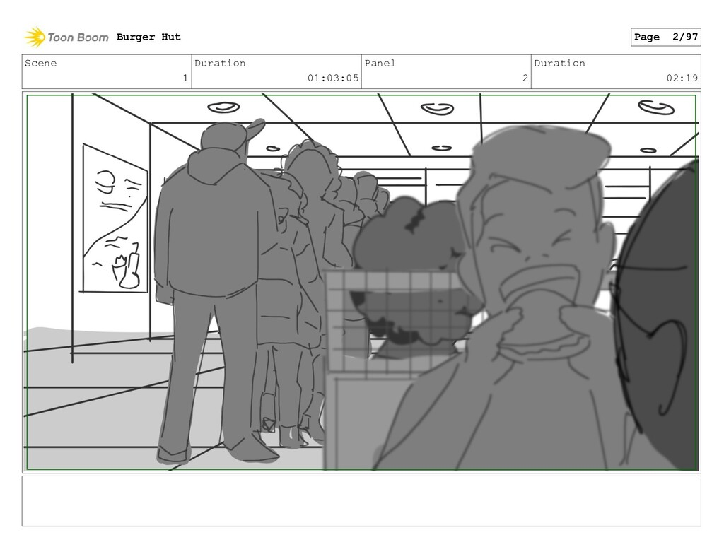 Scene 1 Duration 01:03:05 Panel 2 Duration 02:1...