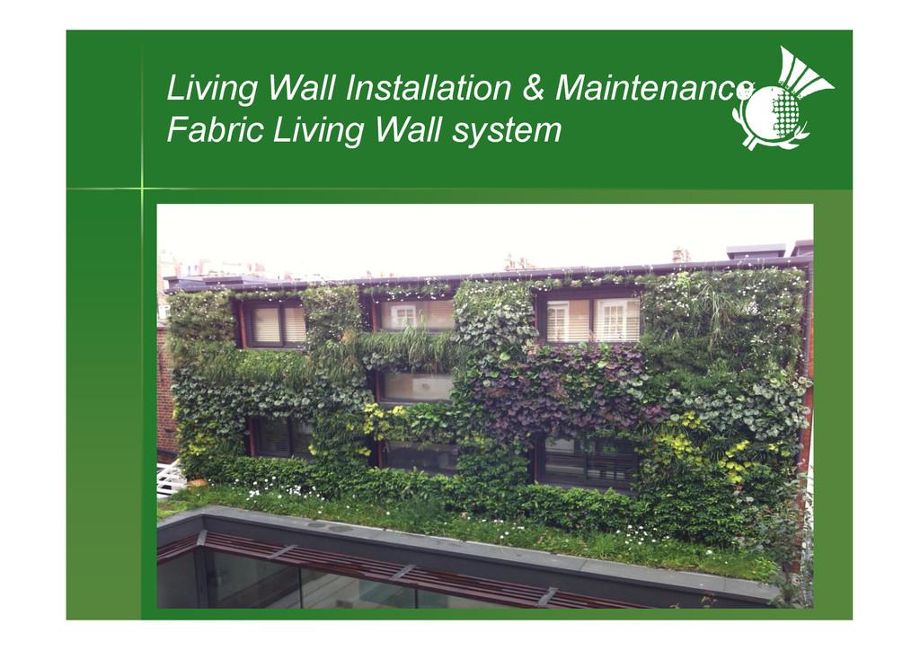 Living Wall Installation & Maintenance Fabric L...
