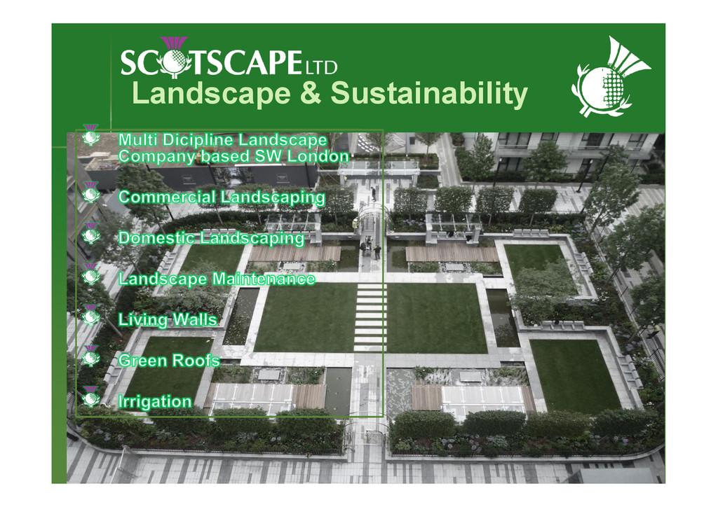 Landscape & Sustainability