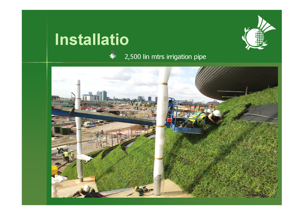 Installatio 2,500 lin mtrs irrigation pipe