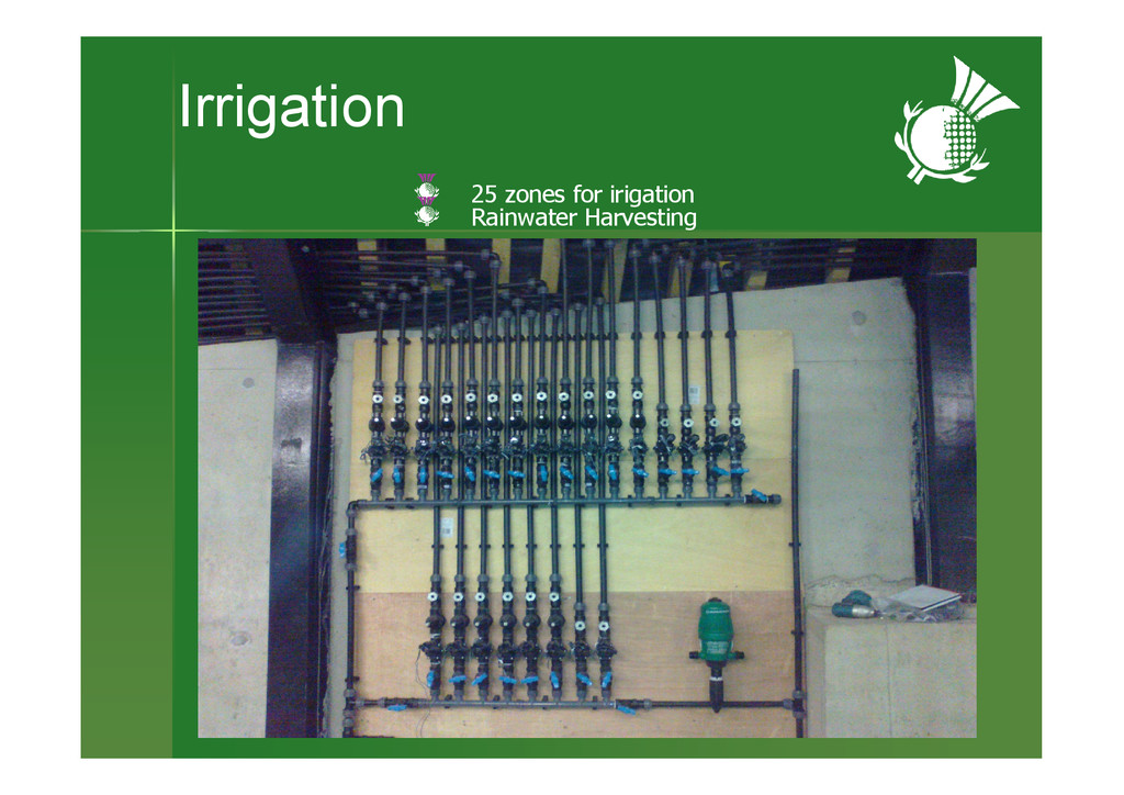 Irrigation Air gap between wall & membrane 25 z...