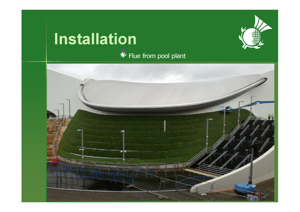 Installation Flue from pool plant