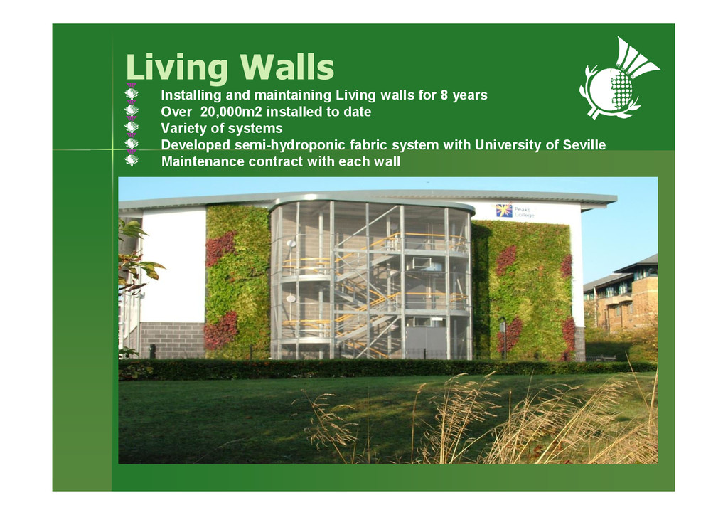 Living Walls Installing and maintaining Living ...