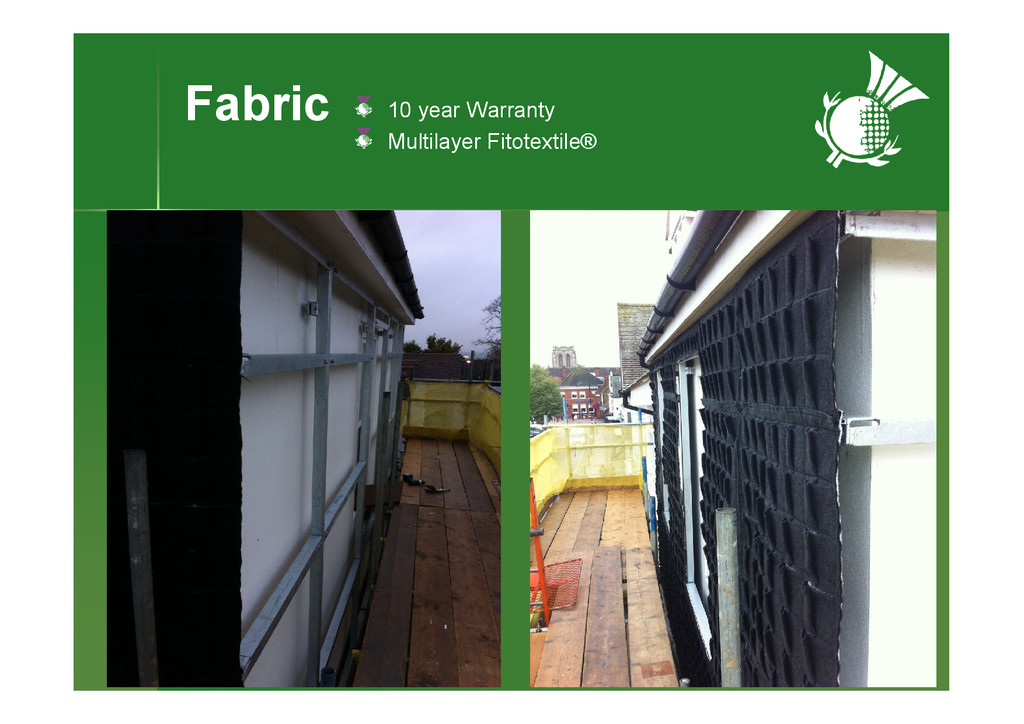 Fabric 10 year Warranty Multilayer Fitotextile®