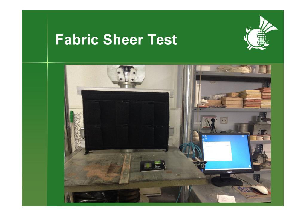 Fabric Sheer Test