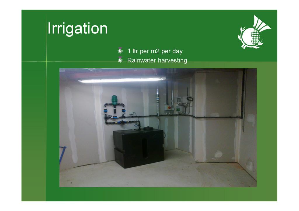 Irrigation Air gap between wall & membrane 1 lt...