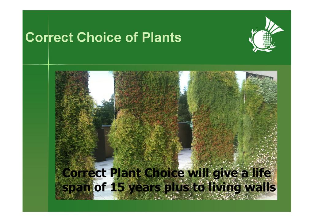 Correct Choice of Plants Correct Plant Choice w...