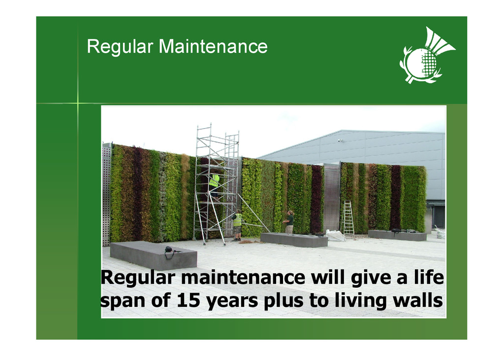 Regular maintenance will give a life span of 15...