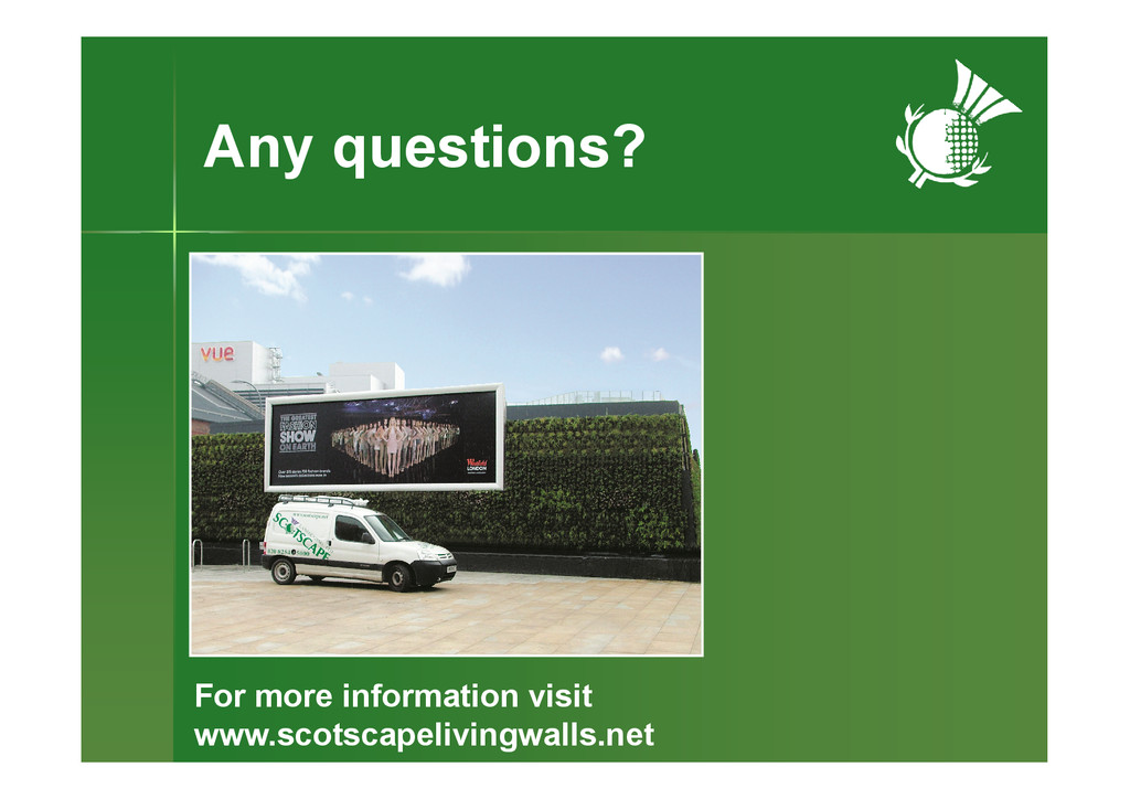Any questions? For more information visit www.s...
