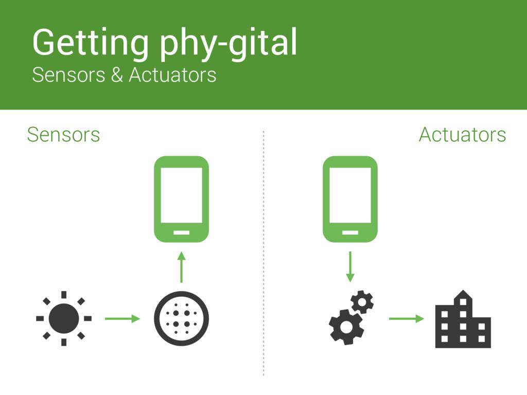 Getting phy-gital Sensors & Actuators Sensors A...