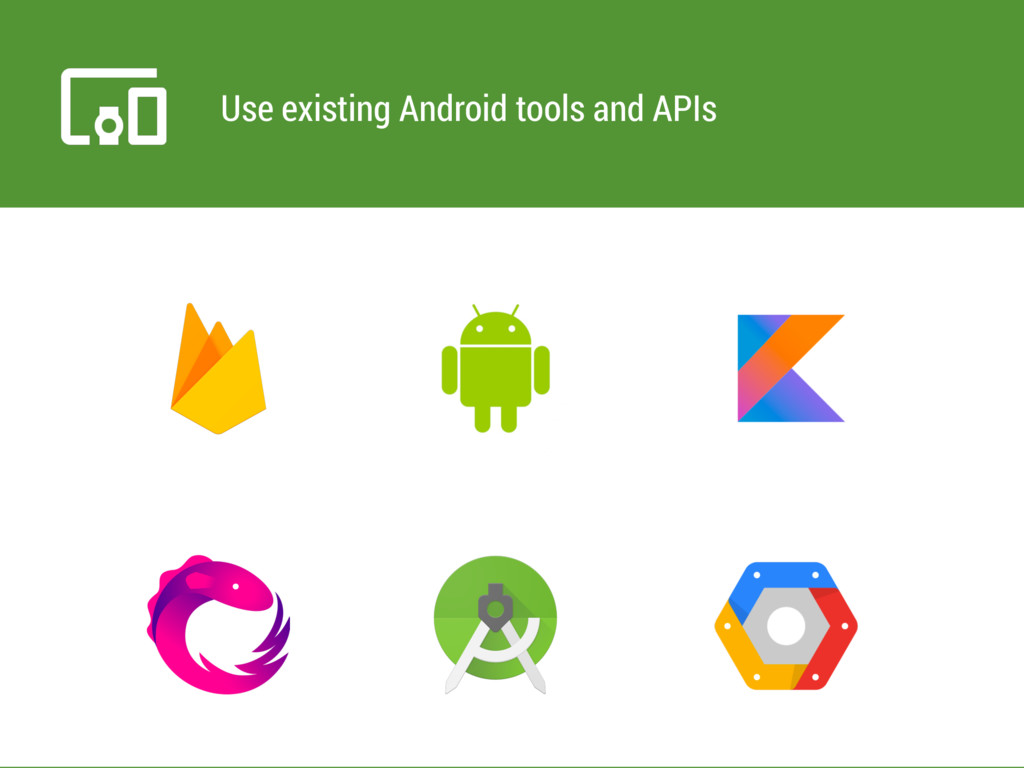 Use existing Android tools and APIs