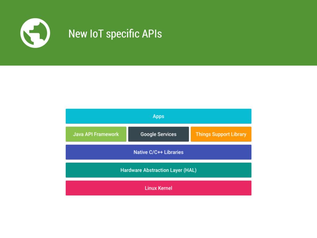 New IoT specific APIs