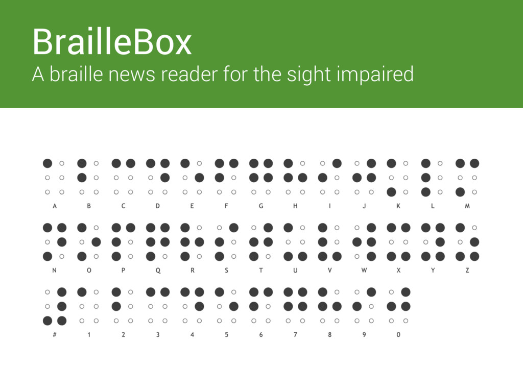 Switches BrailleBox A braille news reader for t...