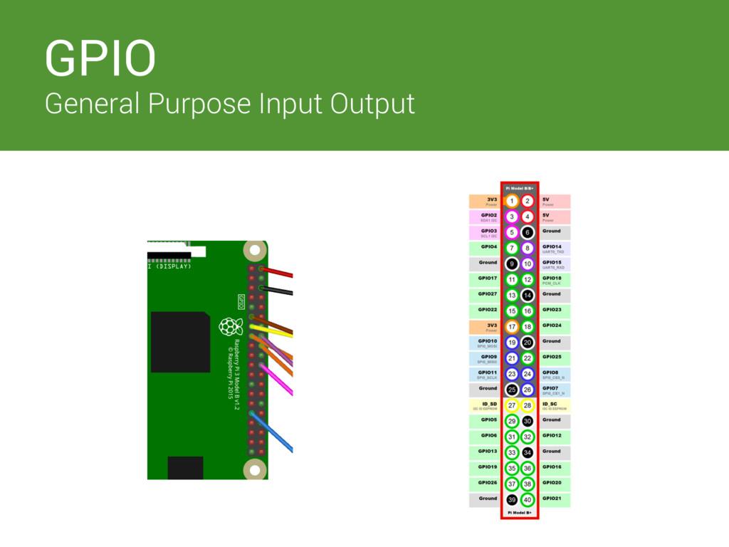 Switches GPIO General Purpose Input Output