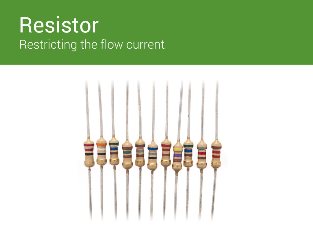 Switches Resistor Restricting the flow current