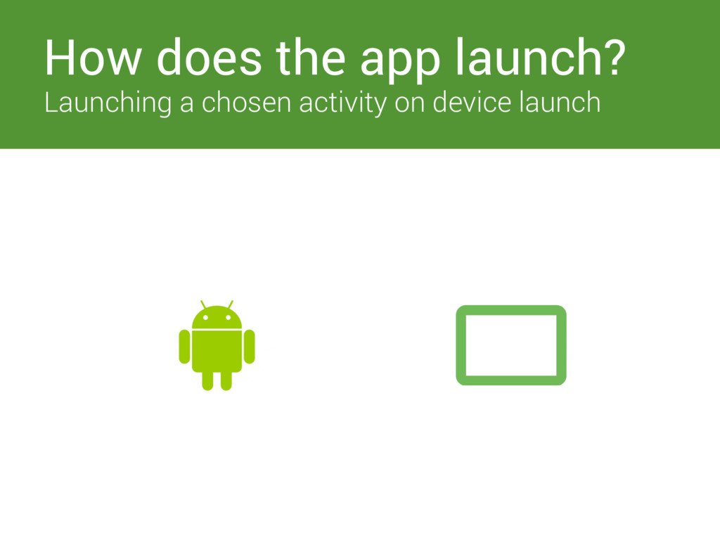 Switches How does the app launch? Launching a c...