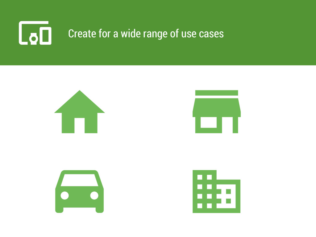Create for a wide range of use cases