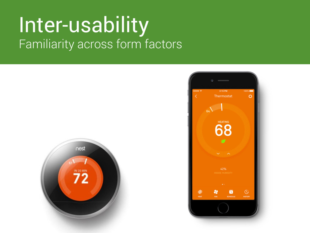 Inter-usability Familiarity across form factors