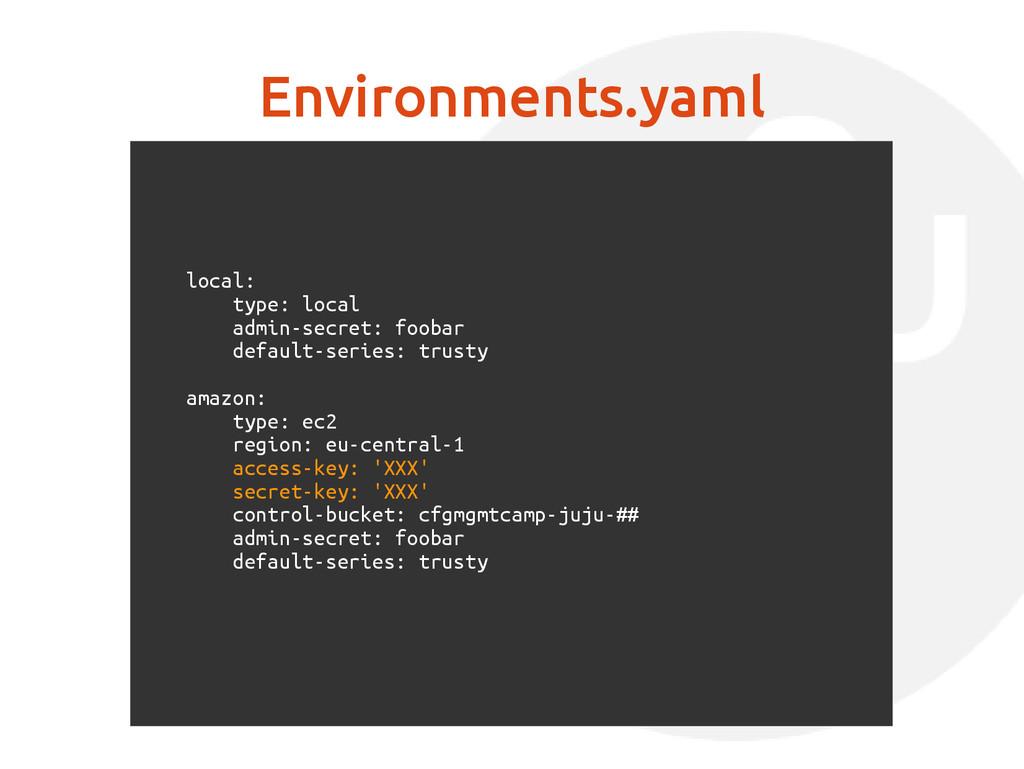 Environments.yaml local: type: local admin-secr...