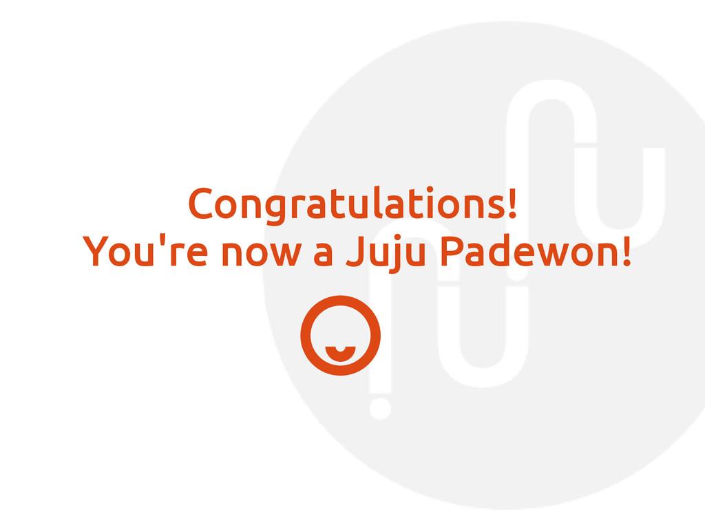 Congratulations! You're now a Juju Padewon!