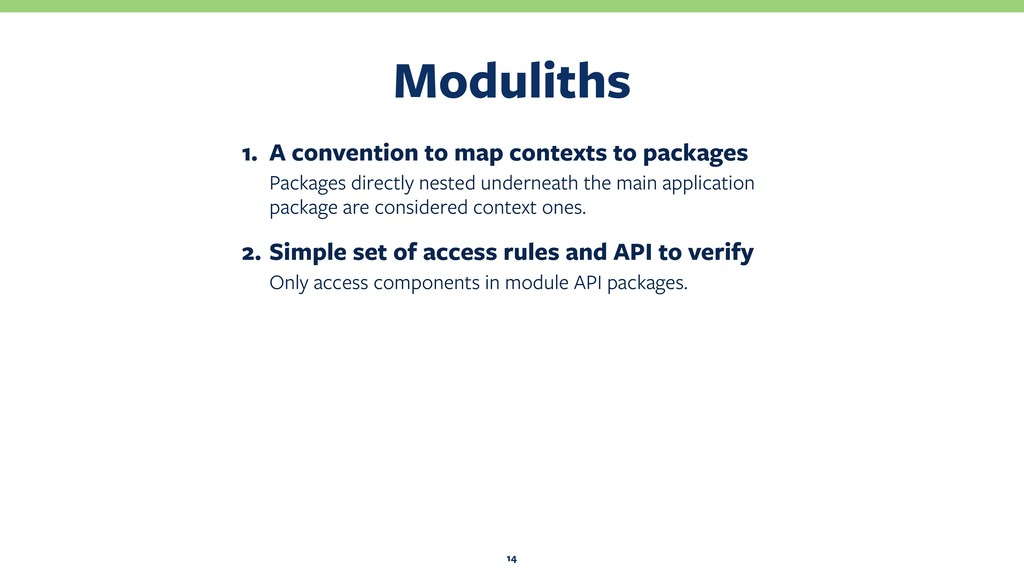 Moduliths 14 1. A convention to map contexts to...