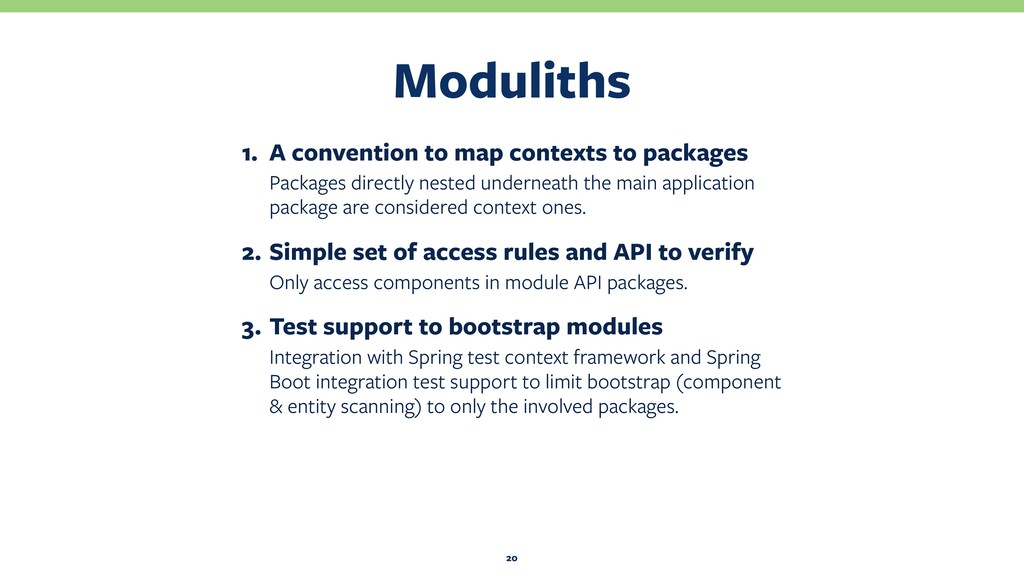 Moduliths 20 1. A convention to map contexts to...